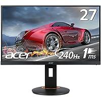 Acer モニター ディスプレイ XF270HAbmidprzx (27インチ/TN/フルHD/1ms/DVI-D、HDMI v2.0、DisplayPort v1.2/スピーカー付)
