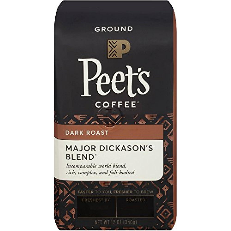 Peet's Major Dickason's Deep Roast Ground Coffee ピートメジャーディッキーソンディープローストグラウンドコーヒー340g [並行輸入品]