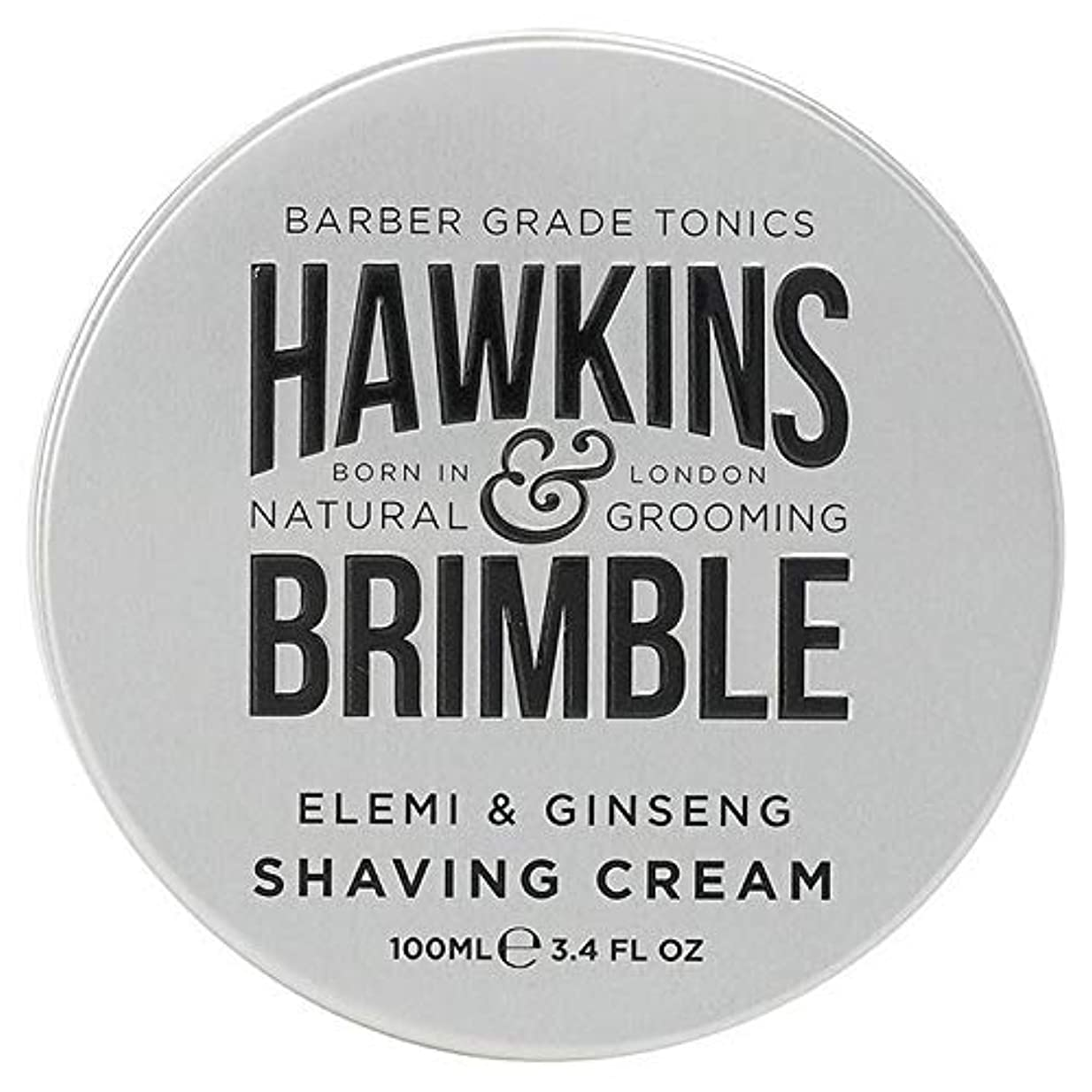 重荷ペット悲しい[Hawkins & Brimble] ホーキンス&Brimbleシェービングクリーム100ミリリットル - Hawkins & Brimble Shaving Cream 100ml [並行輸入品]