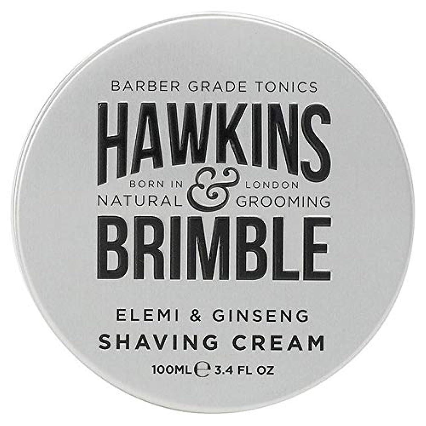 学習者適切なぴかぴか[Hawkins & Brimble] ホーキンス&Brimbleシェービングクリーム100ミリリットル - Hawkins & Brimble Shaving Cream 100ml [並行輸入品]
