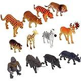 【ノーブランド品】いたずら トリック用 おもちゃ 野生動物セット 12個