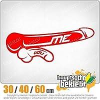 KIWISTAR - Me You - size comparison 15色 - ネオン+クロム! ステッカービニールオートバイ
