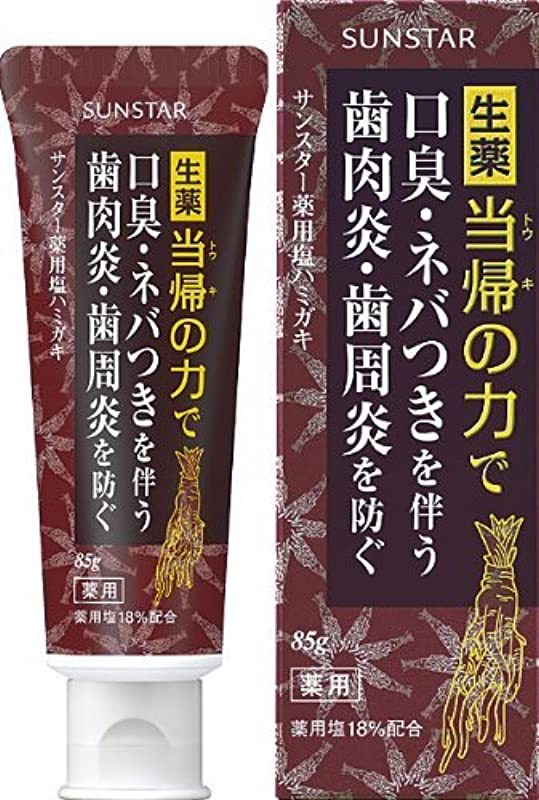 絶望的なワックス規定サンスター 薬用塩ハミガキ 85g (医薬部外品)