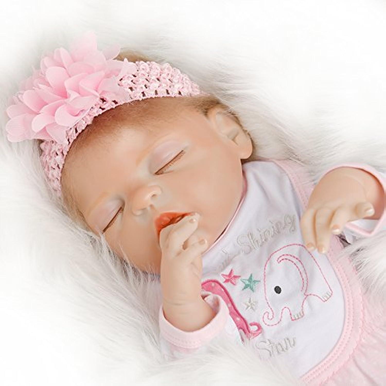 SanyDoll Rebornベビー人形ソフトSilicone 22インチ55 cm磁気Lovely Lifelike Cute Lovely Baby Sleepプリンセス