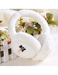 CJC 耳カバー イヤーマフ イヤーマフの冬は暖かいボタンの装飾を保つ4種類の色 (色 : 白)