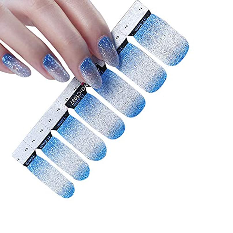 薄める結晶立方体Poonikuu 人気のネイルステッカー グラデーション 透明 防水 いネイル飾 1枚×14シール 夏 女性 レディースプレゼント ギフト