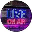 On Air Live Recording Studio Video Room LED看板 ネオンプレート サイン 標識 Blue Red 300mm x 210mm st6s32-i3064-br