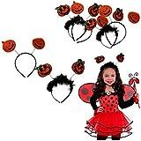 Halloween Pumpkin Design Headbands | 4 Pumpkin Headbands | Halloween Costume | Dazzling Toys [並行輸入品]