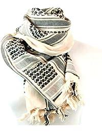 アフガンストール アラブストール  スカーフ  シュマグ  マフラー  Cotton 100% (アイボリー)