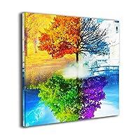 Zetena 虹の木 キャンバス絵画 アートパネル キャンバス 絵画 モダンフレーム装飾画 壁飾り 壁ポスター おしゃれ インテリア