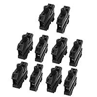 uxcell 端子ブロック コネクター UK10-DREHSI 16mm2ワイヤ対応 800V ブラック 10個入