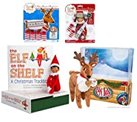 Elf on the Shelf Complete Holiday Gift Bundle: Boy Scout Elf (Brown Eyes) Cuddly Plush Reindeer Elf Pet Christmas Tradition Storybook A Reindeer Tradition Storybook and (2) Matching Polar Pattern Winter Wear Sets [並行輸入品]