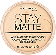 Rimmel London Stay Matte Pressed Powder, 001 Transparent