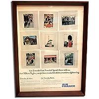 エールフランス 1960年代 ビンテージ広告 ポスター アートフレーム 額付