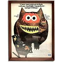 ナウガハイド ナウガモンスター 品番01 1960年代 ビンテージ広告 ポスター アートフレーム 額付 イームズ ハーマンミラー ノール