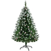 Ubetter クリスマスツリー 150cm ヌードツリー 松かさスノータイプ 組み立て式