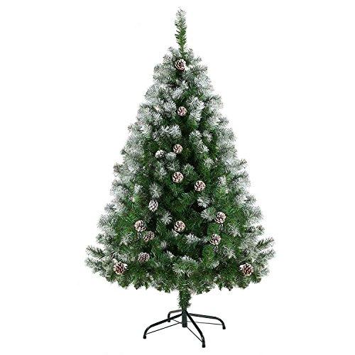 Ubetter クリスマスツリー オリジナルツリー クリスマスグッズ グリー christmas tree 150cm 松かさスノータイプ 組み立て式