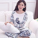 MH-RITA 秋・冬シーズンのパジャマは女性の長袖綿 Pijamas セットホームの服サイズ M XL XXXL 4 M