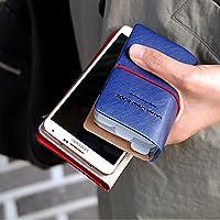 カードケース 名刺入れ レディース メンズ カード入れ 革 レザー 縦入れ 30ポケット 両面収納 大量収納 クリア シンプル ポイントカード インデックス付 かわいい ギフト Liberty-Z
