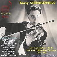トッシー・スピヴァコフスキー/ヴァイオリン協奏曲ライヴ集+『シャコンヌ』(4CD)