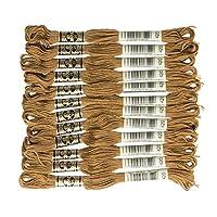 DMC 25番糸 刺繍糸 12束入  #420  ブラウン系 DMC25B