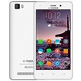 SIM フリー本体 携帯電話・スマートフォン本体 android 7.0 V?Mobile A10 5MP デュアルカメラ 5.0インチ HD スクリーン スマホ 3G クアッドコア 8GB ROM 2800mAh バッテリー をサポート デュアルSIM WIFI Bluetooth