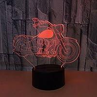 モト3DナイトライトカラフルなLEDアクリルパネル3DステレオビジョンUSBジャックファッションパーソナリティ小さなテーブルランプ (サイズ さいず : Telecontrol touch)
