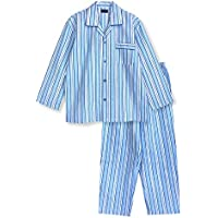 綿100% 長袖 メンズ パジャマ 春 秋 に丁度良い厚さ 前開き シャツタイプ ストライプ柄