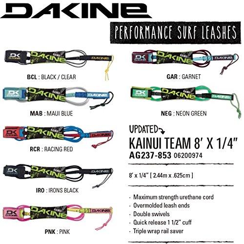 """2016 ダカイン リーシュコード DAKINE AG237-853 KAINUI TEAM 8'×1/4"""" ファンボード用"""