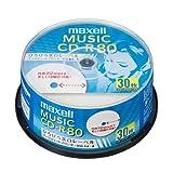 maxell 音楽用 CD-R 80分 インクジェットプリンタ対応ホワイト(ワイド印刷)  30枚 スピンドルケース入り CDRA80WP.30SP