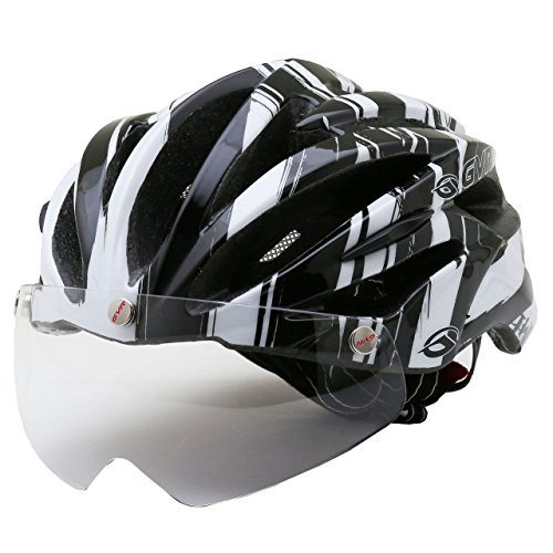 GVR G-307V サイクルヘルメット JCF公認 24 スピード/ホワイト 54-60cm クリアシールド付 G-307V