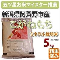 新潟県阿賀野市産ミネラル栽培米「こがねもち」5kg