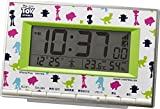 リズム時計工業 Disney ディズニー 電波目覚まし時計 トイ・ストーリー 8RZ133MC05 温度 湿度 カレンダー 白 緑 ホワイト デジタル