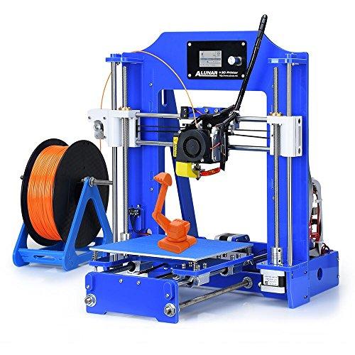ALUNAR-M518【工場直販】DIYコンパクト 3Dプリンターキット 未組立 プリントサイズ150*150*150mm 初心者 高校生 子供プレゼント向け(ブルー)