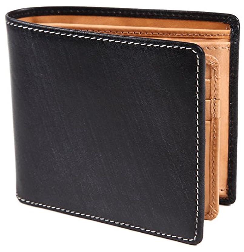 ご注意率直ないっぱい[ポルトラーノ] ブライドルレザー 二つ折り財布 本革 メンズ