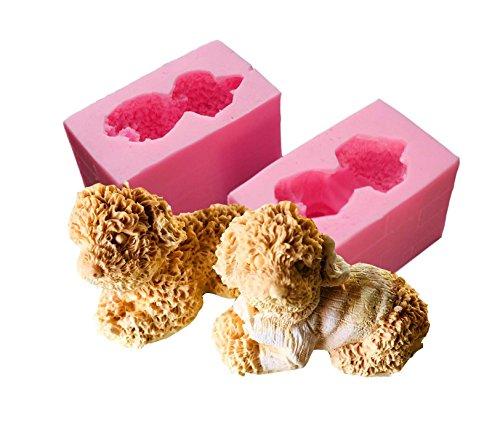 【Ever garden】 トイプードル 犬 動物 シリコンモールド レジン アロマストーン 手作り 石鹸 キャンドル 樹脂 粘土 オルゴナイト 型 抜き型