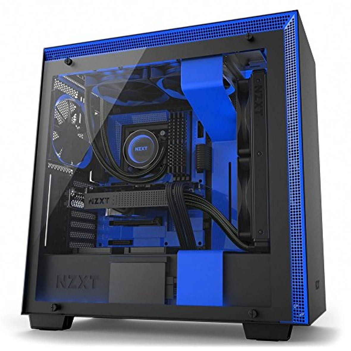 彼女はスチュワードラテンNZXT h700i mid-towerコンピュータケースブラック/ブルーca-h700 W-bl