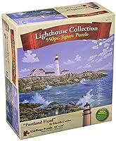 Eduardoの灯台アートCamoes 500Piece Puzzle :ポートランドヘッドライト
