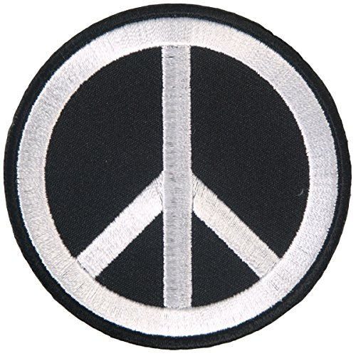 """Hot Leathers, PEACE SIGN, High Quality Iron-On / Saw-On, Heat Sealed Backing Rayon VELCRO PATCH - 3"""" x 3"""""""