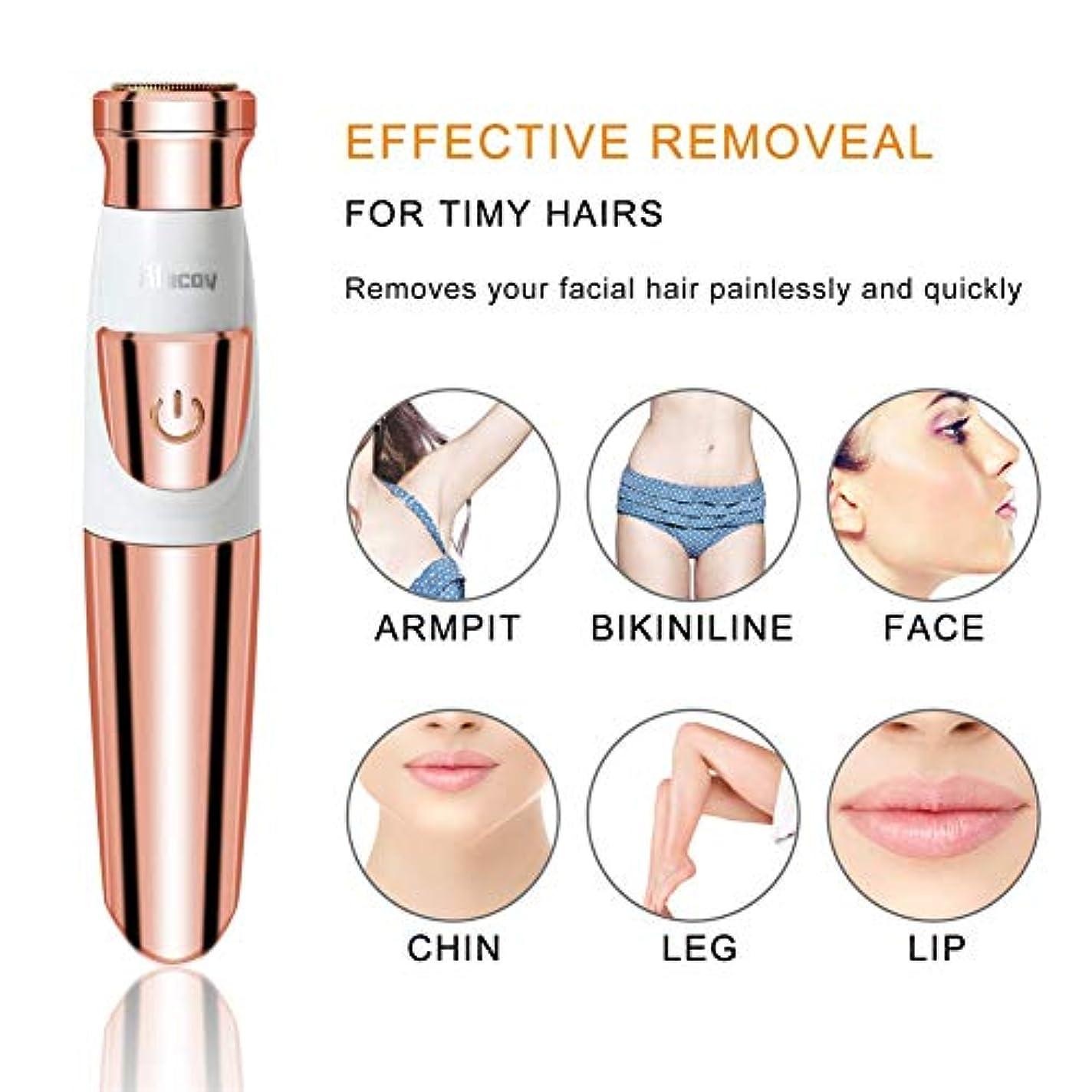 リース発生する義務電気シェーバー、女性の痛みのない体の顔の電気シェーバー、USB充電式、女性のための脱毛剤