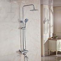浴室のシャワーセット シャワー蛇口恒温シャワー蛇口ホットとコールドの蛇口シャワーセットフル銅の蛇口シャワー装置
