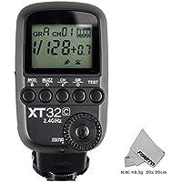 FOMITO® GODOX XT32C 送信機/スフラッシュトリガー、内蔵GODOX 2.4GワイヤレスXシステム、1/8000秒高速シンクロ  Canonカメラ専用  1DX,5D MarkIII,5D Mark II,6D,7D,60D,50D,40D,30D,650D,600D,550D,500D,450D,400D Digital ,1000d ,1100等機種対応。Fomitoオリジナル クリーニングクロース付属している