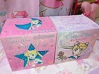 美少女戦士 セーラームーン キャラチェスト プラチェスト ピンク & パープル 当店オリジナル缶バッジ セット