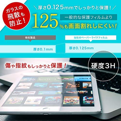 『「キングダムフィルム」 iPad Pro 12.9 (2018) ペーパーライク保護フィルム 紙のような描き心地 反射低減 アップルペンシル(apple pencil)対応 貼付け失敗時 1枚無料交換 日本製』の3枚目の画像