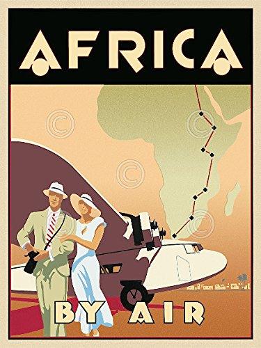 Africa by Air by Brian Jamesビンテージ旅行飛行機ポスター(選択サイズの印刷) 18x24 Print BM-J387k