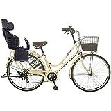 Lupinusルピナス 自転車 26インチ LP-266HA-knrj-bk シティサイクル LEDオートライト SHIMANO製6段ギア 樹脂製後子乗せブラック