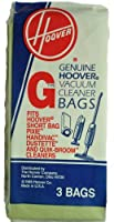 Hoover Type G Vacuum Bags Fits: Hoover Pixie HandiVac, Dustette, and Quick-Broom & Number 1644 Models, Hoover Part Number 4010008G, 3 bags in pack