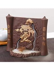 PHILOGOD 香炉 陶器漢字彫刻レリーフ手作り逆流香炉 線香立て デュアルユース お香 ホルダー