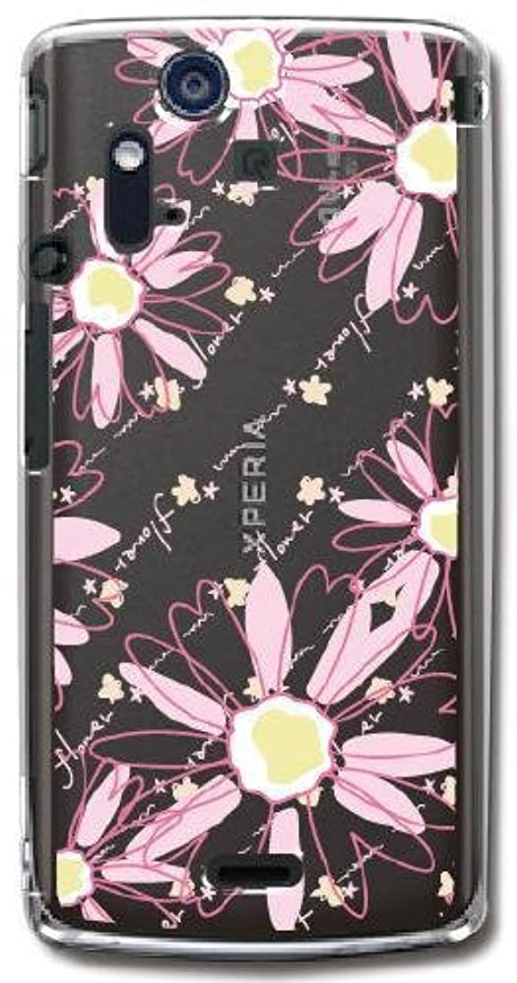 見捨てるフルート農村【Paiiige】 pop flowers pink (クリア)/ for Xperia acro IS11S/au by KDDI専用ケース AUACRO-100-A001