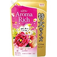 【大容量】ソフラン アロマリッチ 柔軟剤 スカーレット(ハッピーフルーティの香り) 詰め替え 1210ml